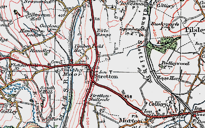 Old map of Stretton in 1923
