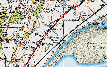 Old map of Ashwell Grange in 1919