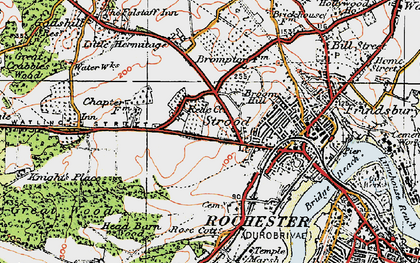 Old map of Strood in 1921