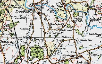 Old map of Strood Green in 1920