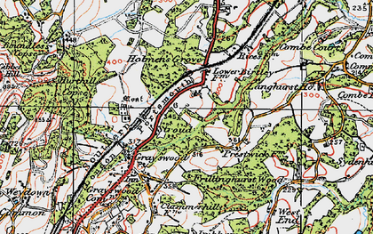 Old map of Stroud in 1920