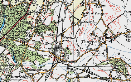Old map of Stroude in 1920