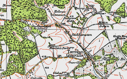 Old map of Ashmore Bottom in 1919