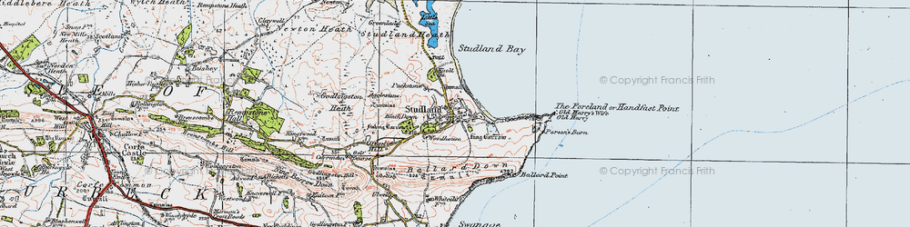Old map of Agglestone in 1919