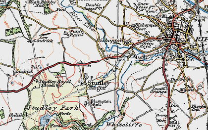 Old map of Aismunderby Village in 1925