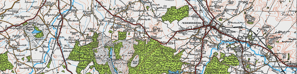Old map of Whitbourne Springs in 1919