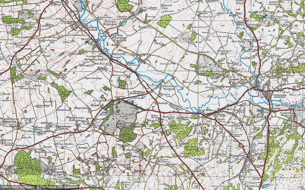 Old Map of Historic Map covering Bailie Ho in 1919