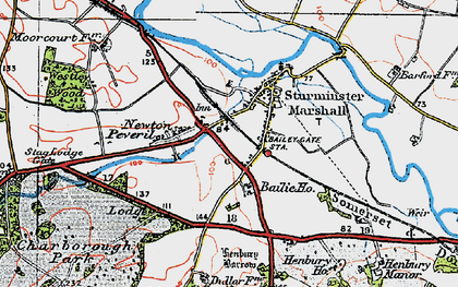 Old map of Bailie Ho in 1919