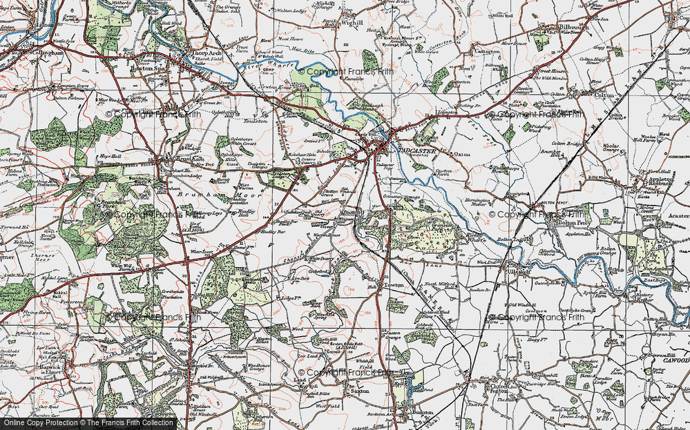 Old Map of Historic Map covering Limekiln Wood in 1925