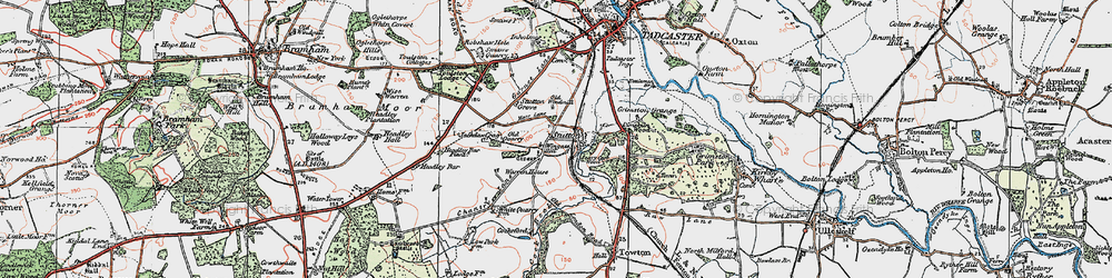 Old map of Wingate Hill in 1925