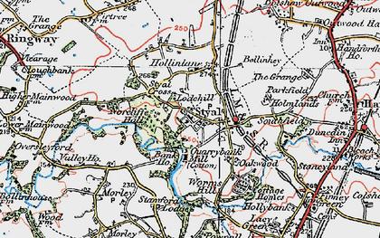 Old map of Styal in 1923