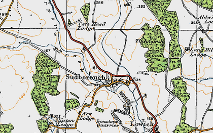 Old map of Titchmarsh Wood in 1920