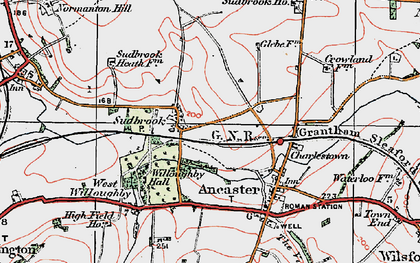 Old map of Sudbrook in 1922