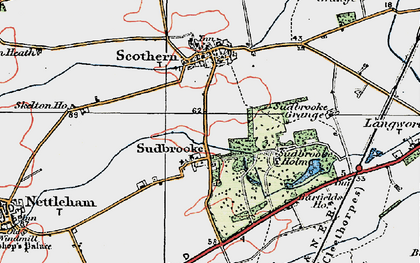 Old map of Barfield Ho in 1923