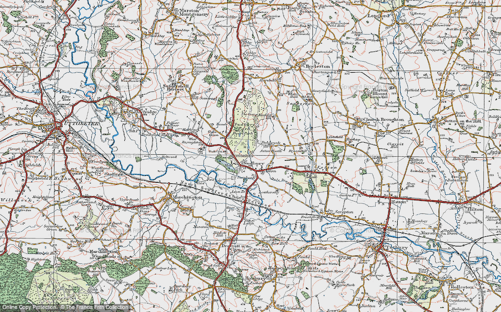 Old Map of Historic Map covering Aston Heath in 1921