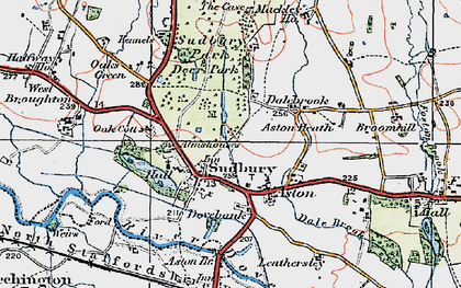Old map of Aston Heath in 1921