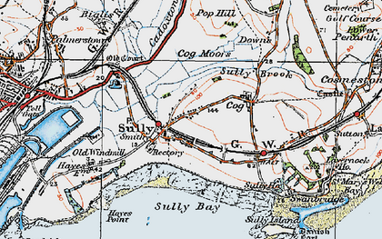 Old map of Sully in 1919