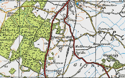 Old map of Wilmington Wood in 1920