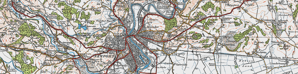 Old map of Summerhill in 1919