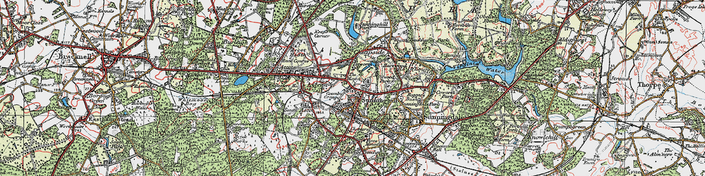 Old map of Agincourt in 1920