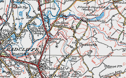 Old map of Thurston Fold in 1924