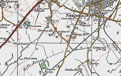Old map of Sunny Hill in 1921