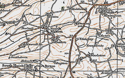 Old map of Bagton in 1919