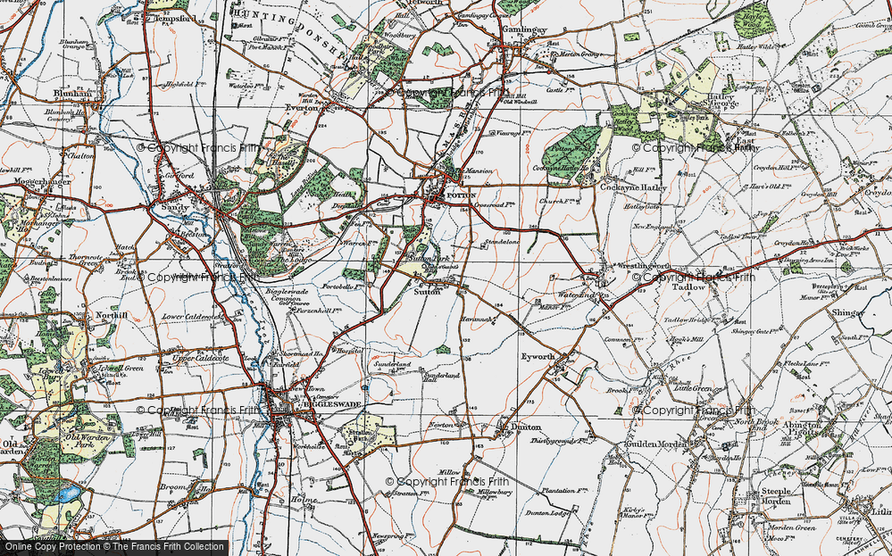 Old Map of Sutton, 1919 in 1919