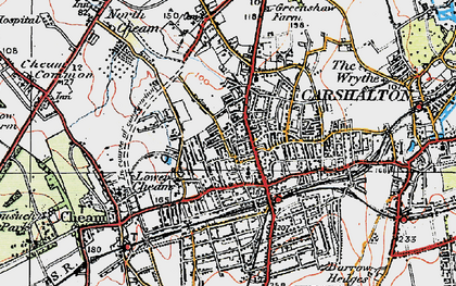 Old map of Sutton in 1920