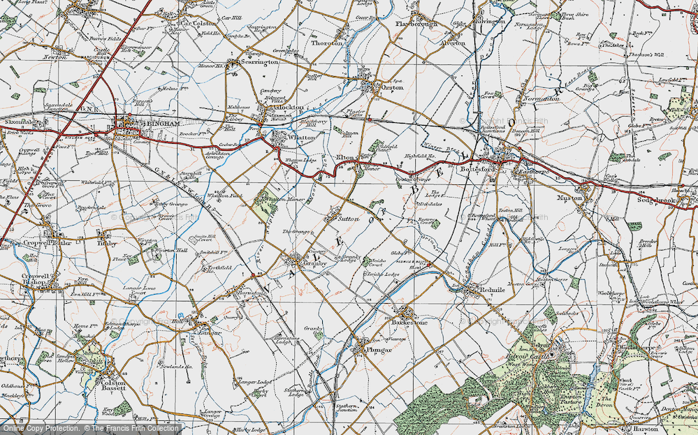 Old Map of Sutton, 1921 in 1921