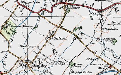 Old map of Sutton in 1921