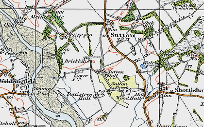 Old map of Tips, The in 1921