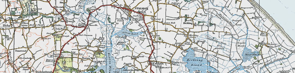 Old map of Sutton in 1922