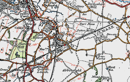 Old map of Sutton in 1923