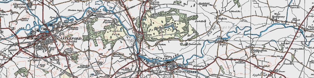 Old map of Sutton in 1924