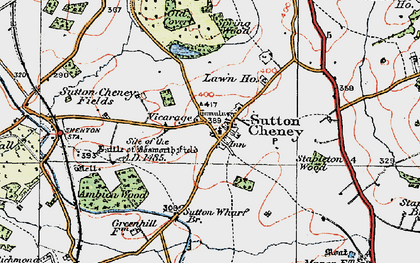 Old map of Ambion Hill in 1921