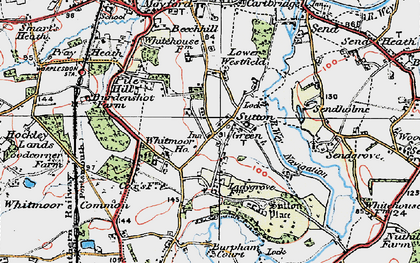Old map of Sutton Green in 1920