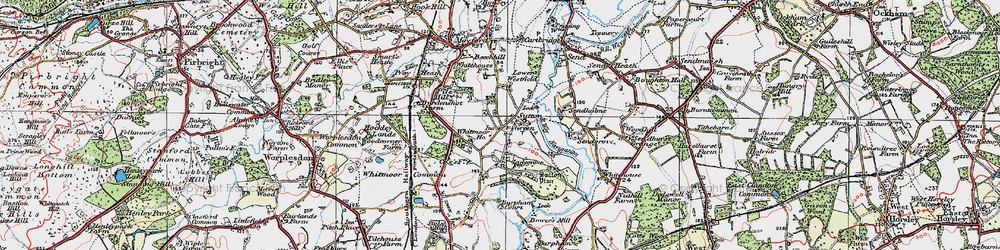 Old map of Whitmoor Ho in 1920