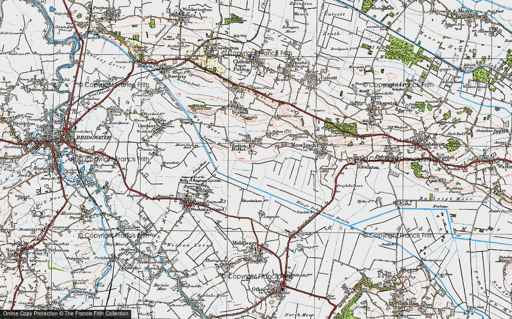 Old Map of Historic Map covering Ball Hill in 1919