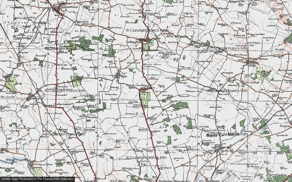 Old Map of Historic Map covering Woodhouse in 1924