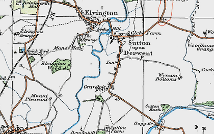 Old map of Wynam Bottoms in 1924