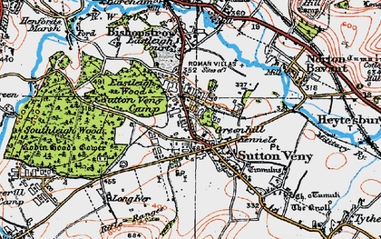 Old map of Whiten Hill in 1919