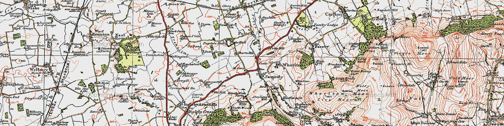 Old map of Swainby in 1925