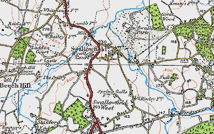 Old map of Wyvols Court in 1919