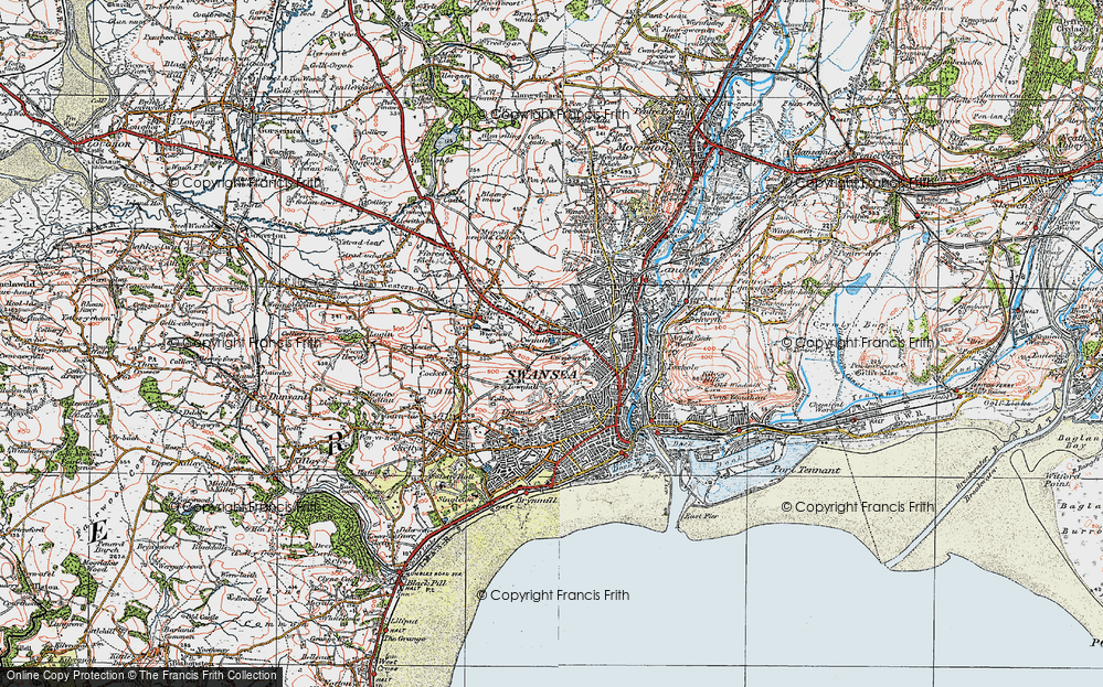 Old Map of Swansea, 1923 in 1923