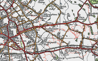 Old map of Swanside in 1923