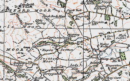 Old map of Wreaks Beck in 1925