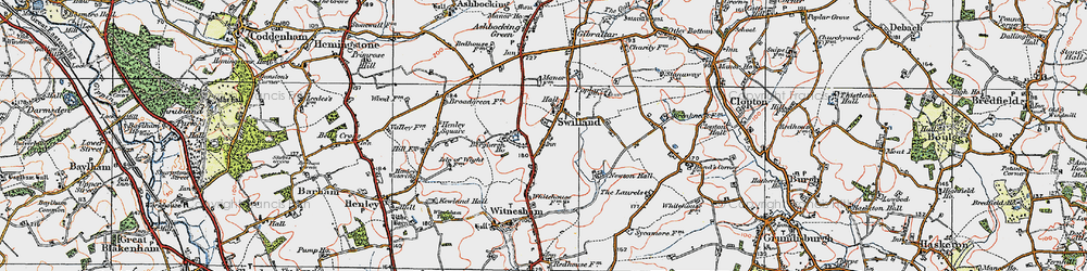 Old map of Agricultural Coll in 1921