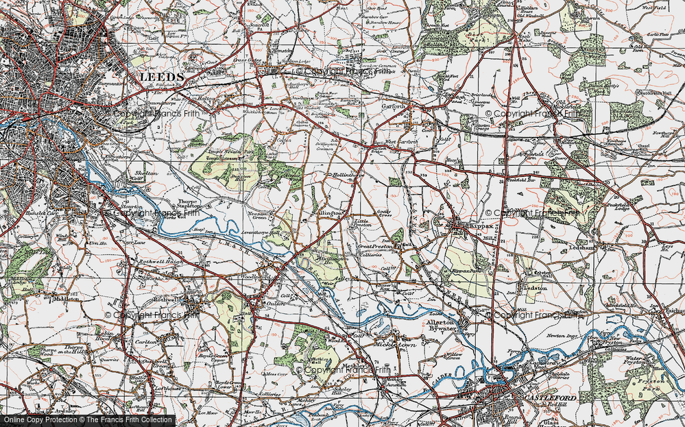 Old Map of Swillington, 1925 in 1925