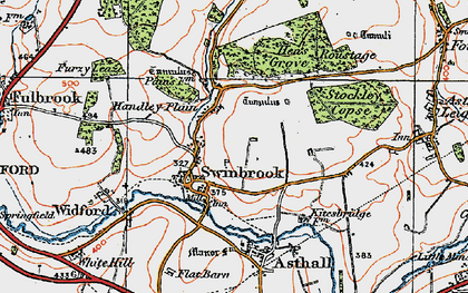 Old map of Widford Village in 1919